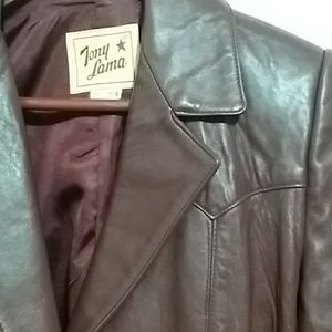 Tony Lama Jackets & Coats - Vintage Tony Lama wine/burgundy leather jacket
